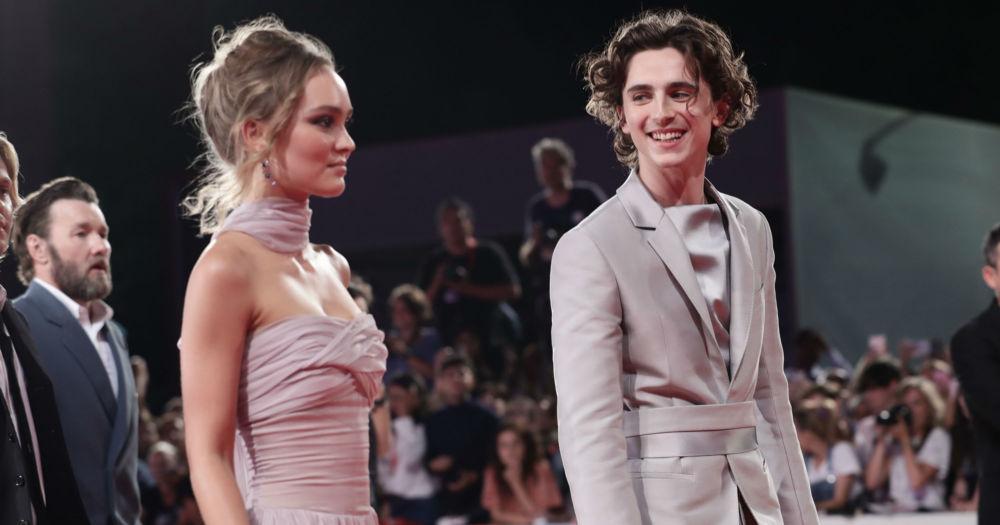 Timothée Chalamet recuerda sus candentes fotos besando a Lily-Rose Depp