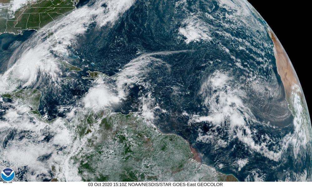 Tormentas en el Atlántico octubre 2020