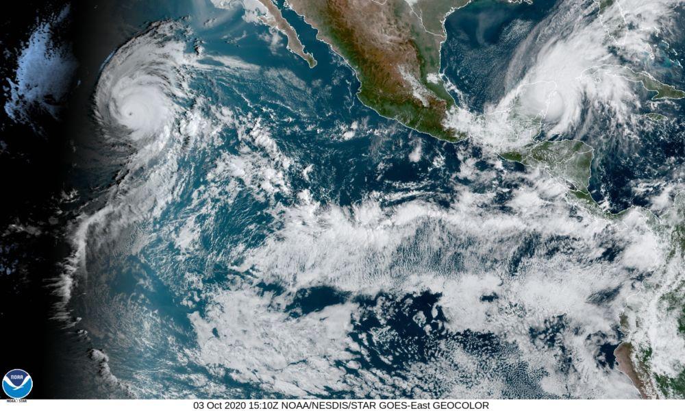 Tormentas en el Pacifico octubre 2020