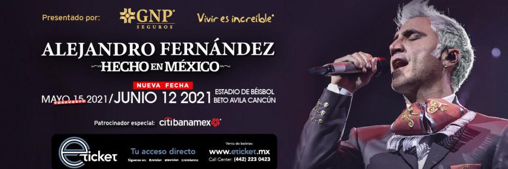 Alejandro Fernández en Cancún: Nueva fecha 2021